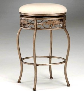 Backless Bordeaux Swivel Counter Bar Stools Bar Height