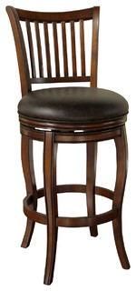 American Heritage Maxwell Stool in Suede with Wenge Bonded Leather 30 Inch