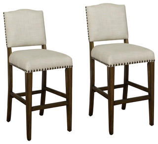 American Heritage Worthington Stools Coastal Gray Set of 2
