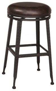 Hillsdale Hale 26 quot Backless Swivel Counter Stool Black