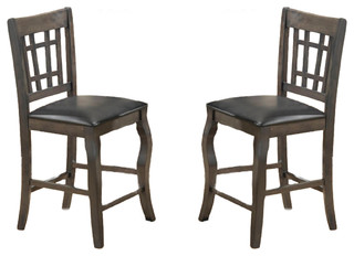 Burgos Counter Height Chairs Gray Set of 2