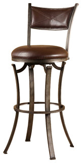 Hillsdale Drummond 30 Swivel Bar Stool in Rubbed Pewter