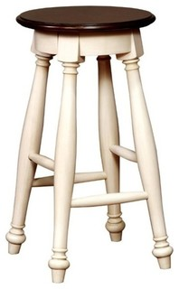 Furniture of America Sabrina Counter Stools White Set of 2 24 quot