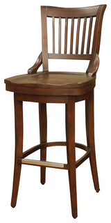 American Heritage Liberty Stool in Suede 26 Inch