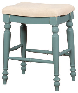 Marino Blue Backless Counter Stool