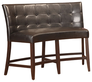 Bossa Counter Height Banquette Black Leatherette