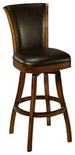 Pastel Glenwood Feher Black Barstool Black Leather 30 Inch
