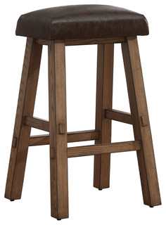 American Heritage Saddle Stool in Latte Counter Height