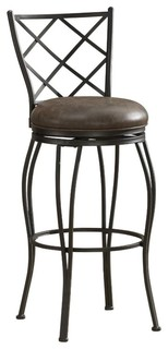 American Heritage Ava Collection Counter Height Barstool Gray