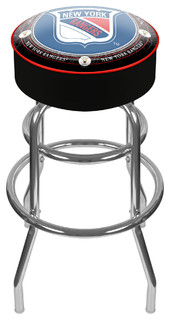 NHL Vintage Padded Swivel Barstool New York Rangers