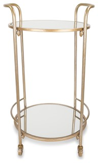 Katrine Brighton Bar Cart Antique Gold