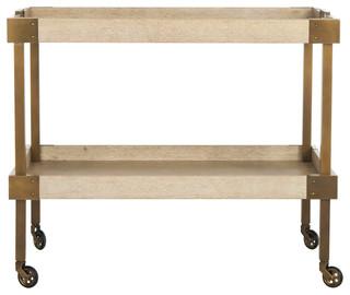 Adalia Wood Bar Cart