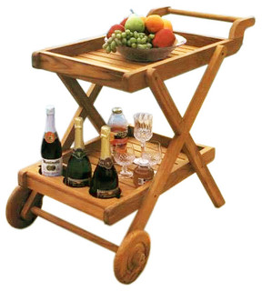 Teak Buttler Serving Trolley