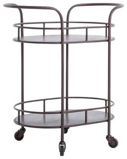 Asher Teague Oval Bar Cart
