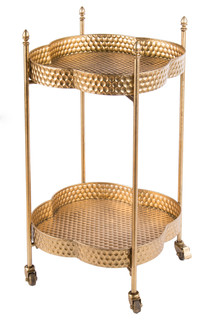 Clover Bar and Serving Cart Gold
