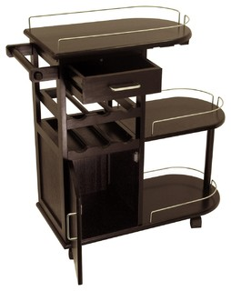Winsome Wood Transitional Dark Espresso Composite Wood Cart