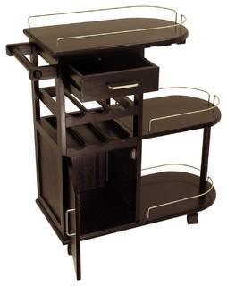 Winsome Wood Transitional Dark Espresso Composite Wood Cart