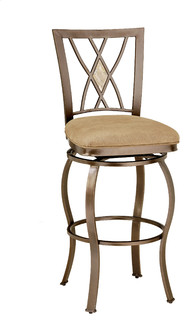 Brookside Diamond Fossil Back Swivel Stool