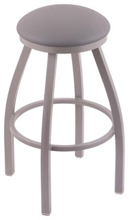 802 Misha 25 quot Counter Stool Anodized Nickel Finish Allante Medium Gray Seat