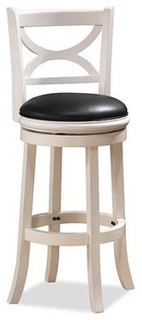 Dune Florence Swivel Counter Stool Distressed White