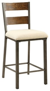 Furniture of America Jazlyn II Counter Stools Oak Set of 2 25