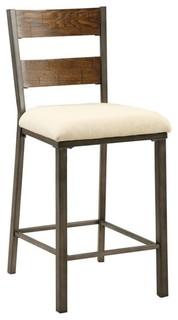 Furniture of America Jazlyn II Counter Stools Oak Set of 2 25
