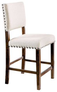 Glenbrook Counter Height Chair Brown Cherry Finish Set of 2