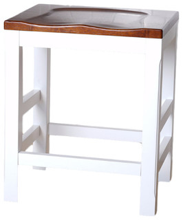 Haven Home Brant Kitchen Counter Stool Vintage White