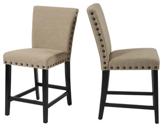 Byton Counter Chairs Set of 2 Black