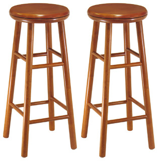 Winsome Wood Swivel Seat 30 quot Stools Cherry Set of 2