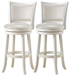 CorLiving Woodgrove White Wash Wood Bar Stools Set of 2 43 quot