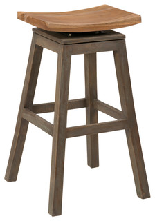 East At Main x27 s Lawton Brown Teakwood Counter Stool