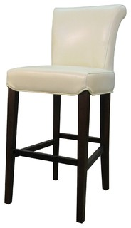 Bentley Genuine Split Leather Counter Stool Beige Set of 4