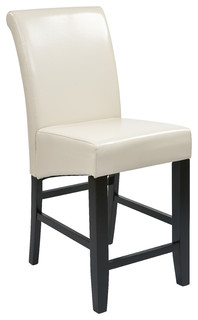 Osp Designs 24 quot Parsons Barstool With Cream Bonded Leather