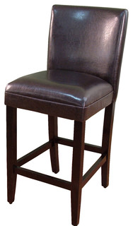 Deluxe Black Barstool Brown