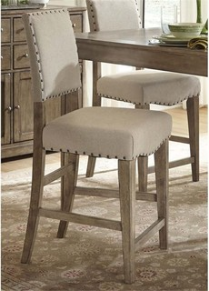 Liberty Furniture Weatherford 24 quot Upholstered Counter Stool Caramel