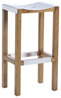 Tarctic 30 quot Aluminum Seat Barstool by Kosas Home
