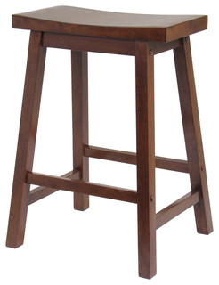 Satori Stool Antique Walnut 24 quot