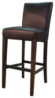 Milton Bonded Leather Bar Stools Set of 2