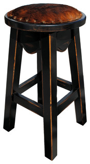 Toro Western Swivel Pub Stool Cowhide Counter Height
