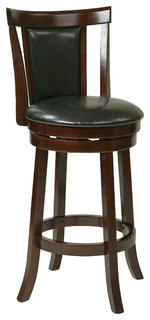 30 Swivel Barstool in Faux Leather