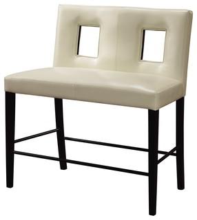 Global Furniture Bar Bench Beige Leatherette