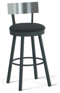 Amisco Lauren Swivel Stool with Stainless Steel Backrest 40493 30 Bar