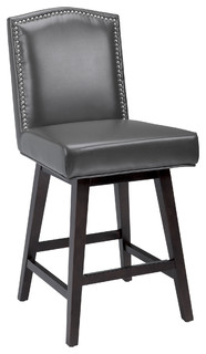 Warren Swivel Kitchen Stool Gray