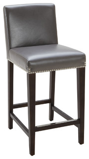 Blair Bonded Leather Counter Stool Gray
