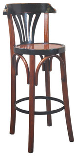 De Luxe Black Barstool Honey
