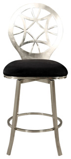 Laser Cut Round Back Memory Swivel Bar Stool 0410 BS