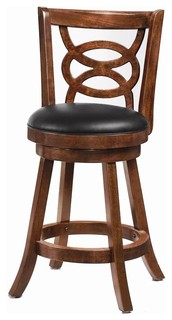 24 quot Swivel Counter Stools Cappuccino Finish Set of 2