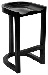 Saddle Barstool Hand Rubbed Black