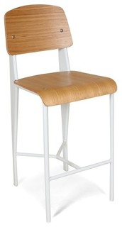 The Jean Counter Stool White and Wood